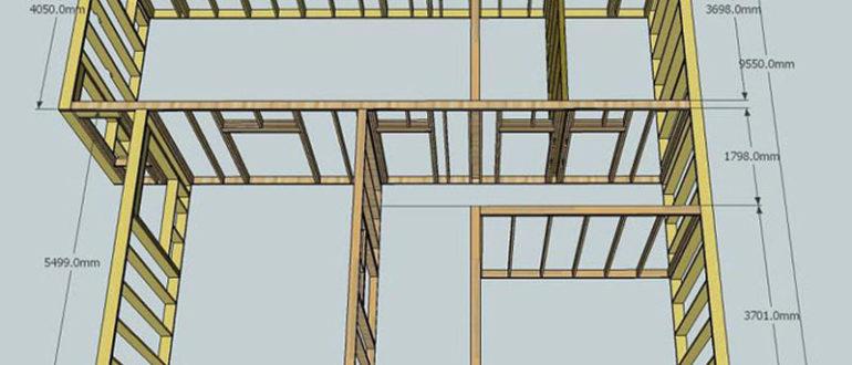 Схема постройки дома