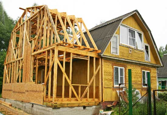 Обустройство каркасной пристройки к деревянному дому своими руками