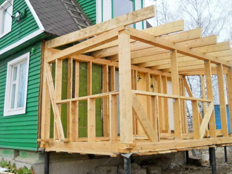 Строим пристройку к дому своими руками каркасную