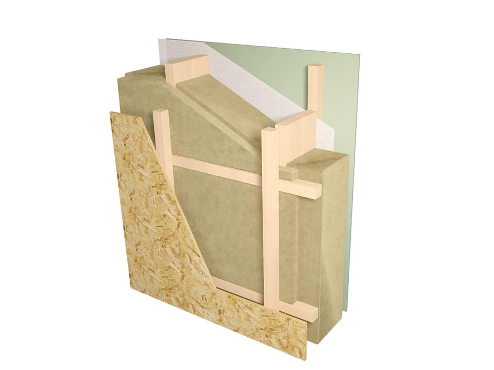 Стена дома в разрезе