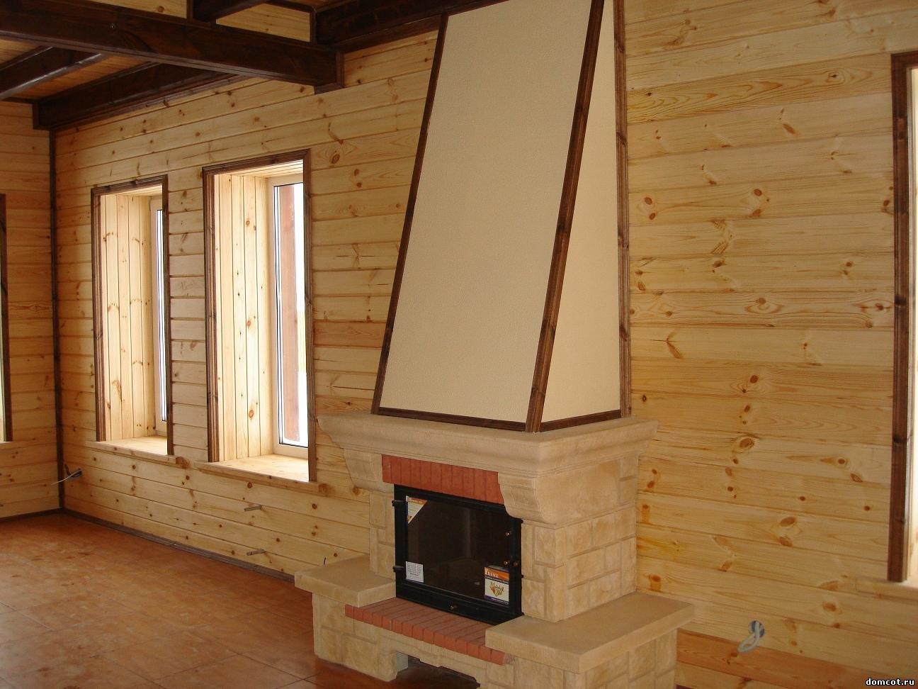 Каркасный дом с камином