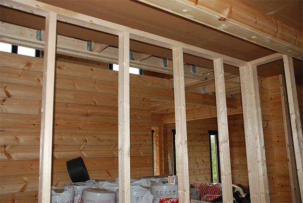 Каркасные перегородки в деревянном доме