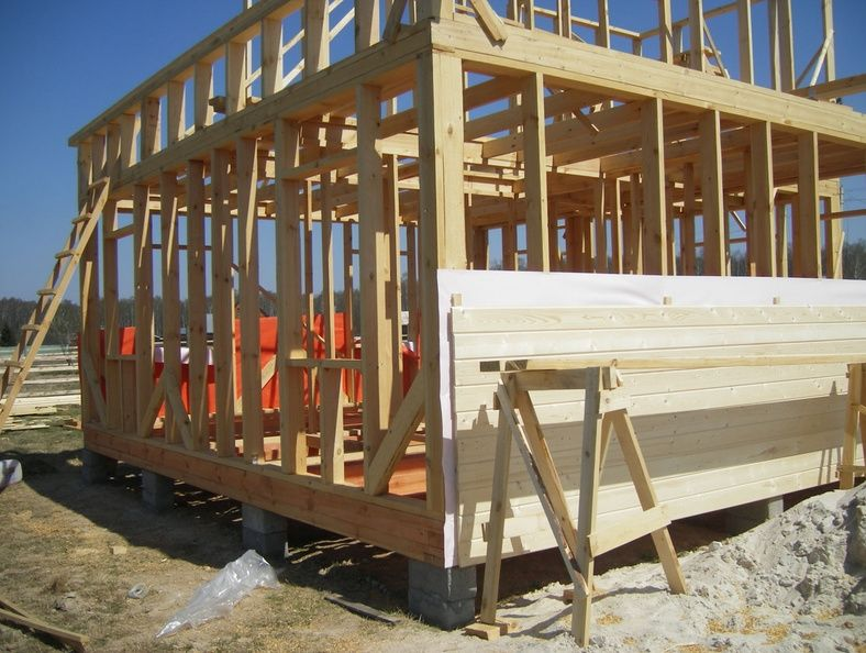 Этапы строительства каркасника