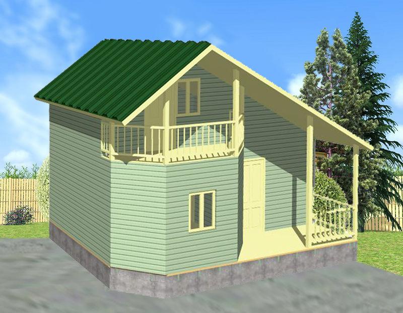 Каркасный дом в два этажа