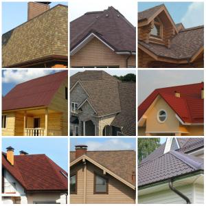 Различные формы крыши