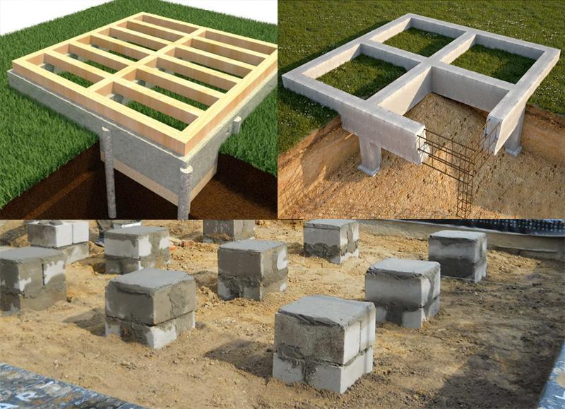 Фундаменты под каркасный дом