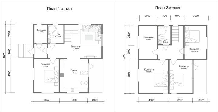Дом 9 на 9 два этажа