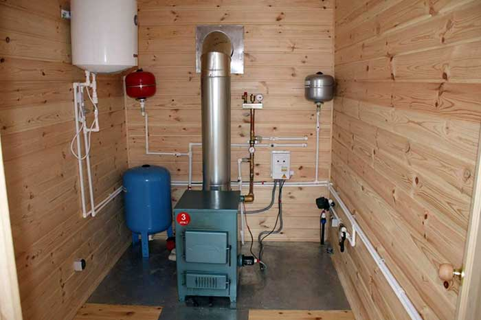 Система отопления каркасного дома