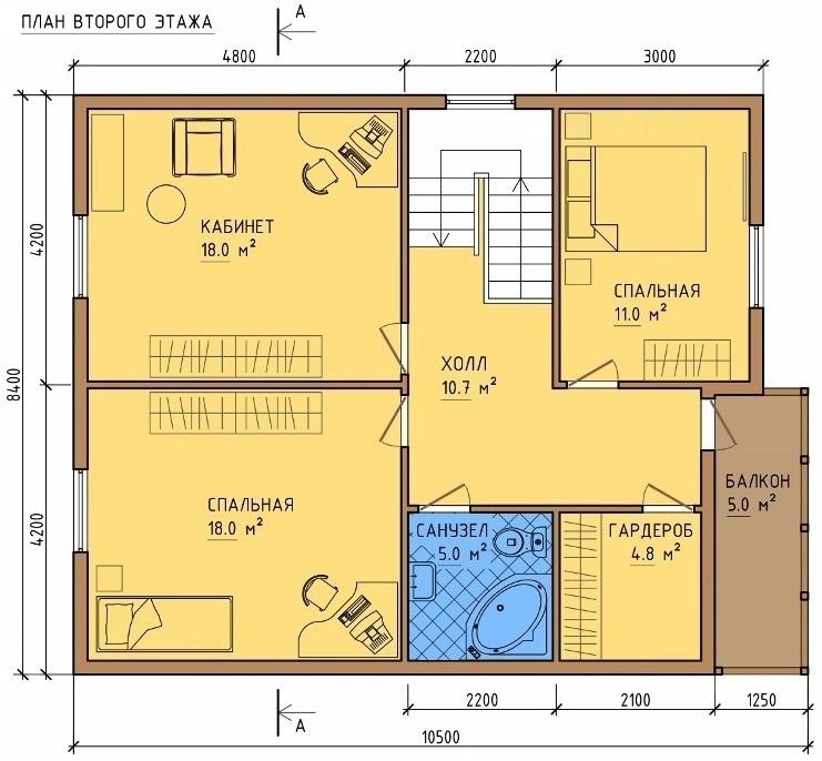 План дома 8 на 10 вторая часть