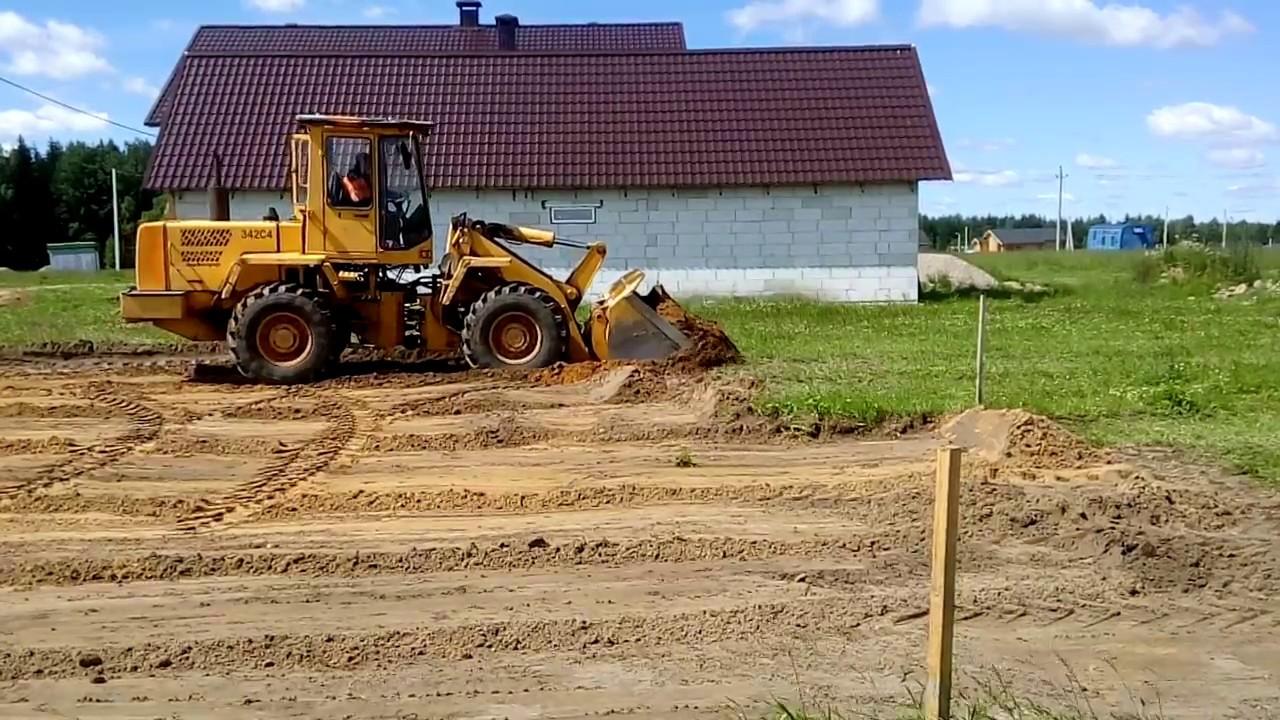 Расчистка участка для постройки фундамента