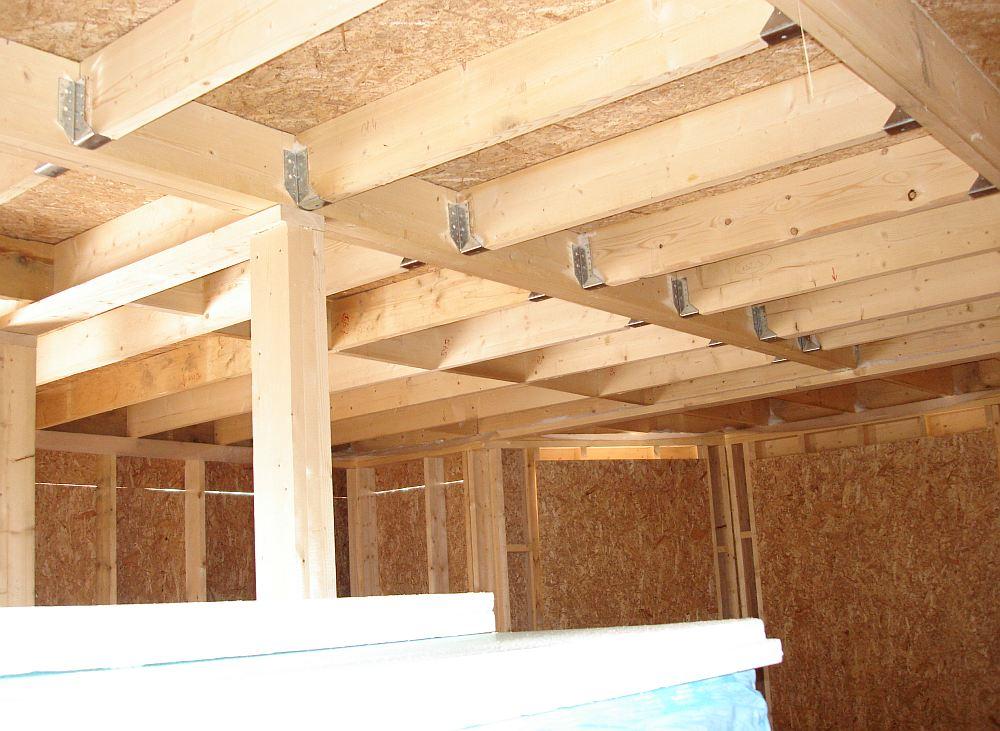 Потолки в каркасном доме