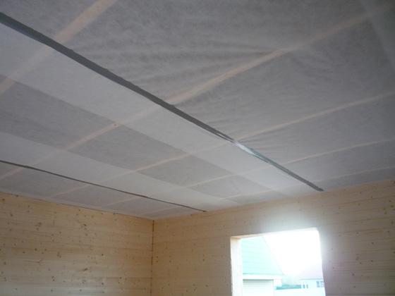 Потолок со слоем пароизоляции