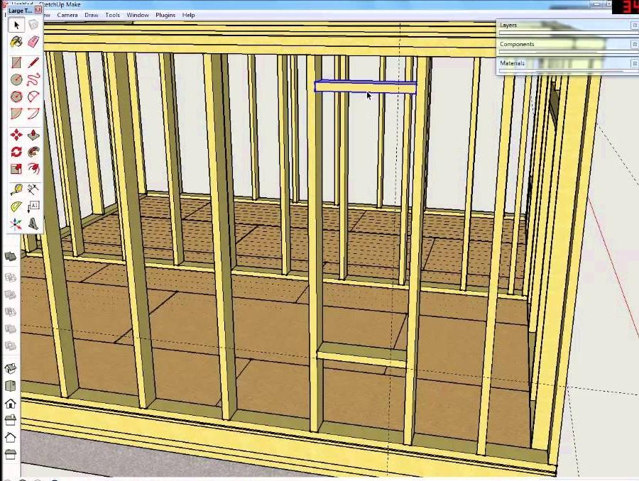Проектирование стен каркасного дома