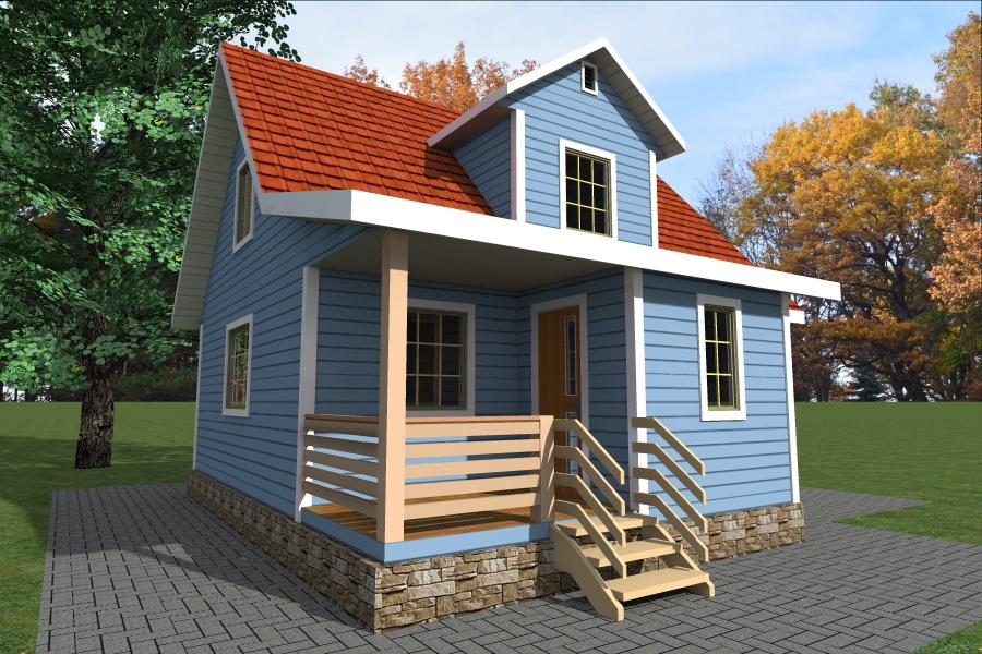 Визуализация проекта каркасного дома