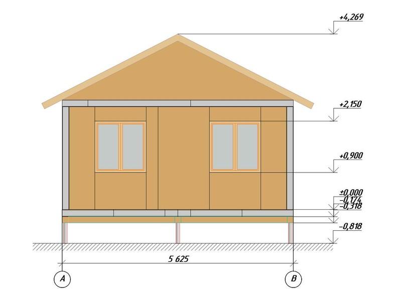 План дома из СИП