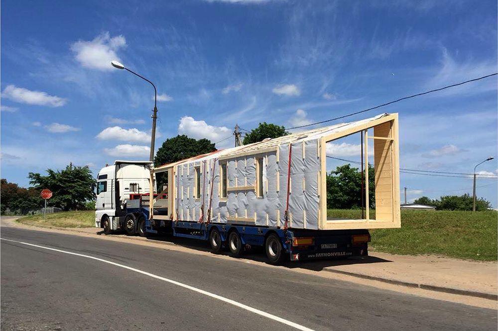Перевозка модульного дома