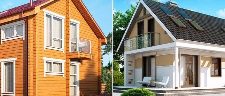 Каркасный и брусовый дом