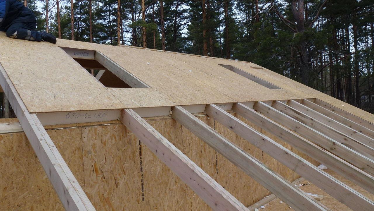 Крыша дома из СИП