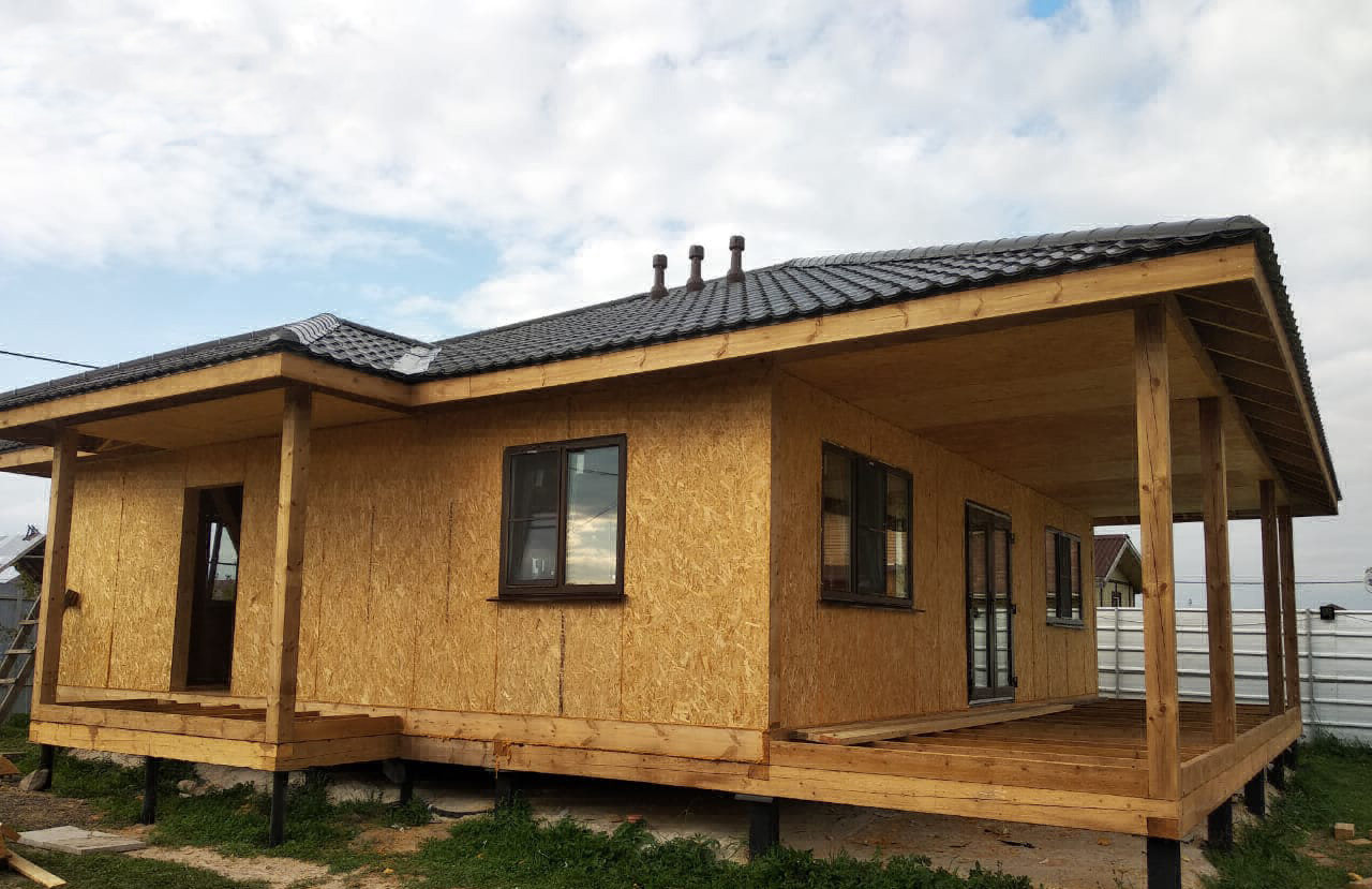 Преимущества одноэтажного дома из СИП панелей