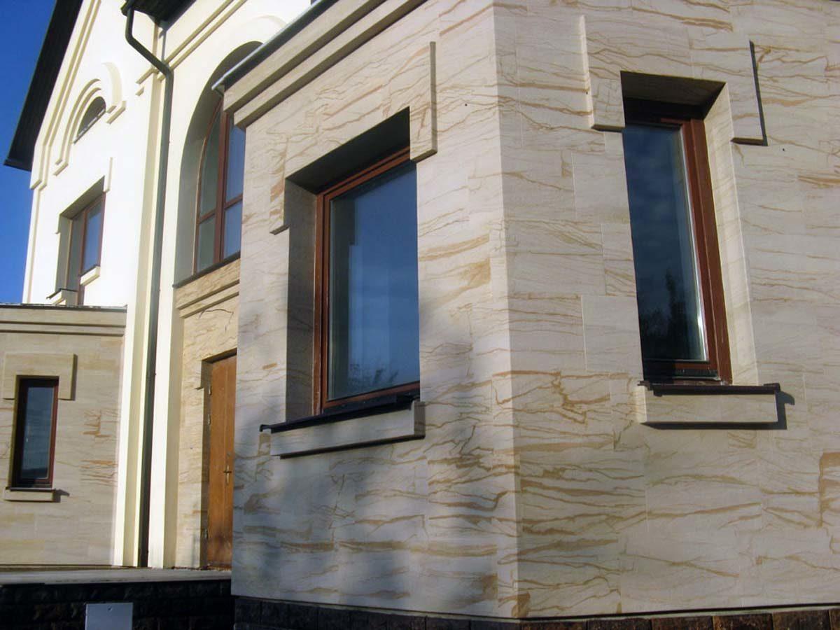 Фасад из гибкого камня