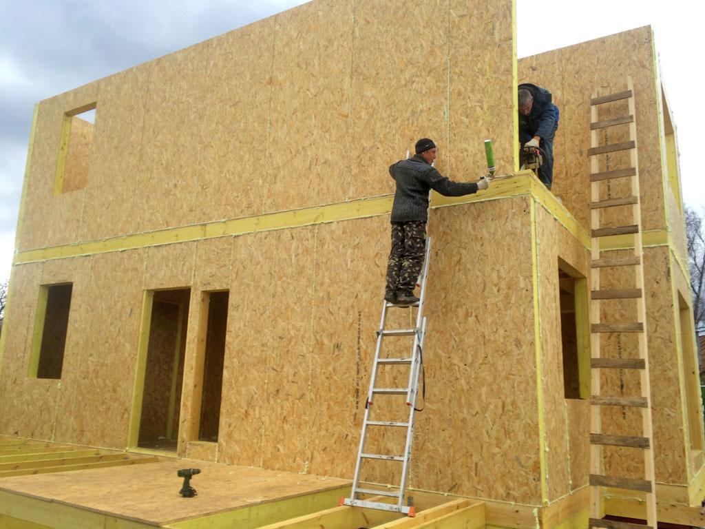 Возведение постройки из СИП