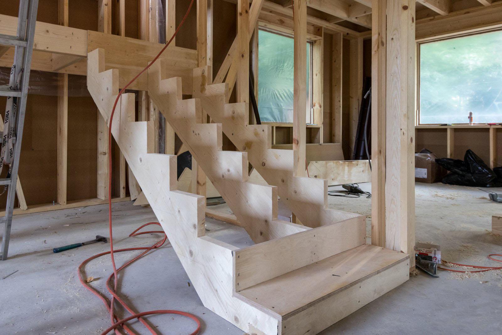 Постройка лестницы