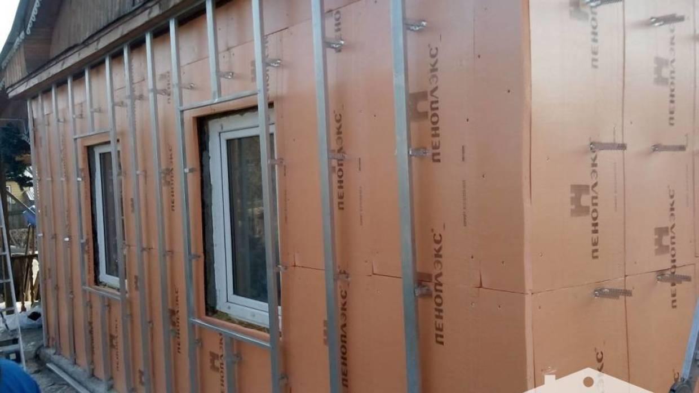 Фасад с пеноплексом