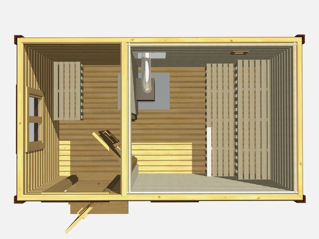 Внутренняя планировка дома-бани