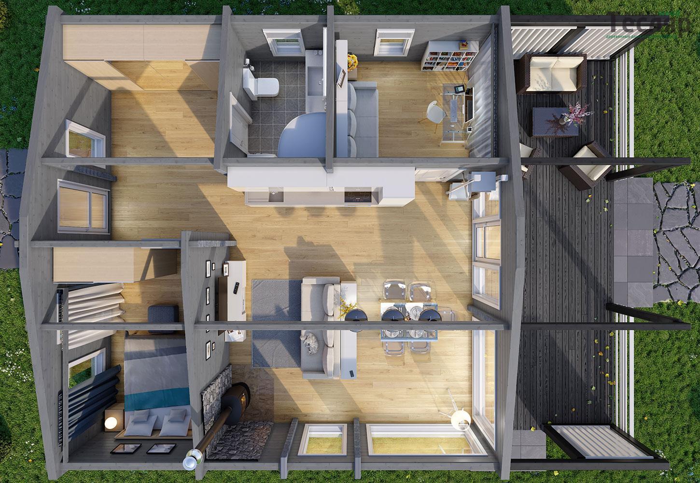Большой модульный дом