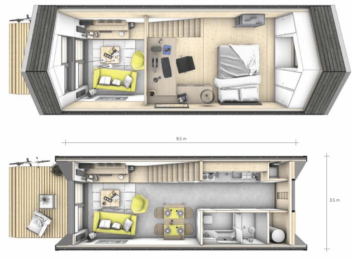 Дом в два этажа