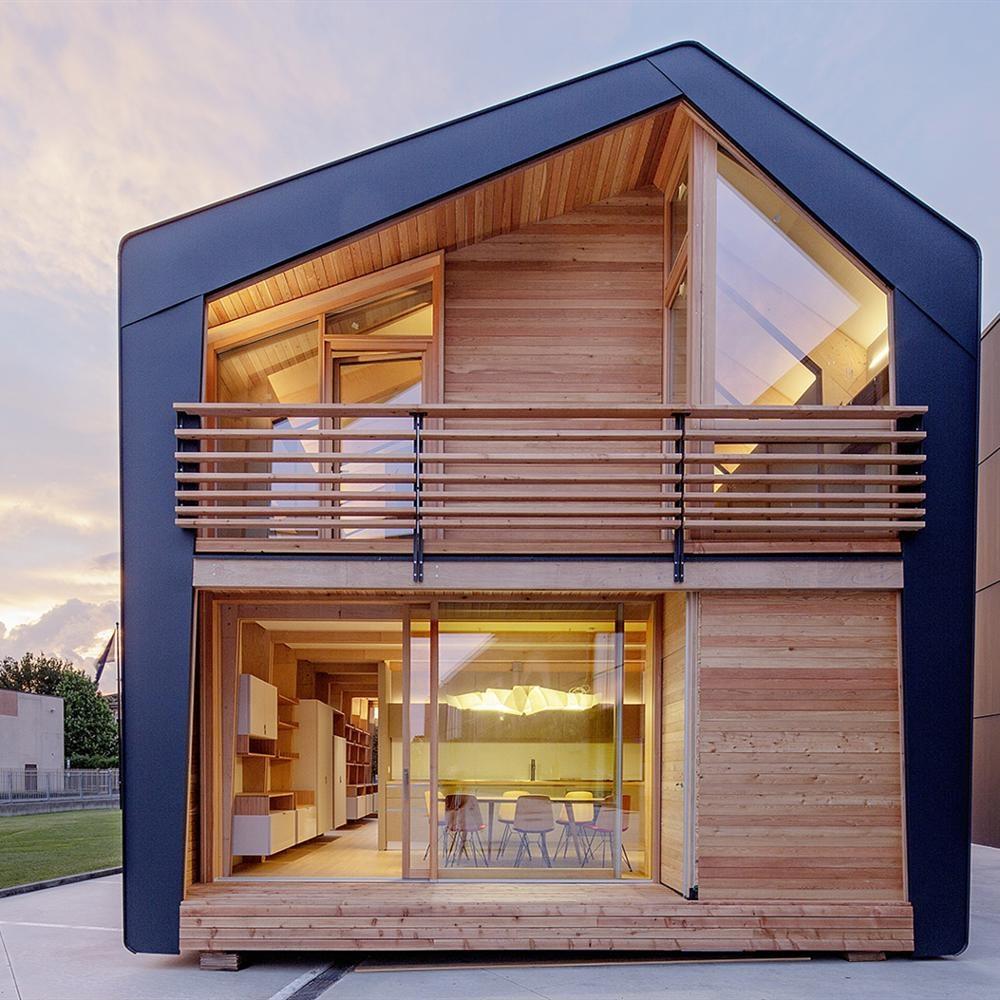 Постройка большого двухэтажного модульного дома