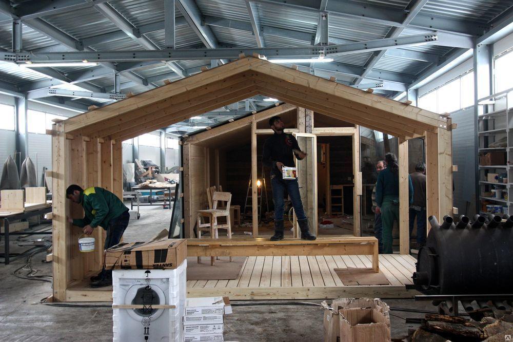 Изготовление модульного дома на заводе