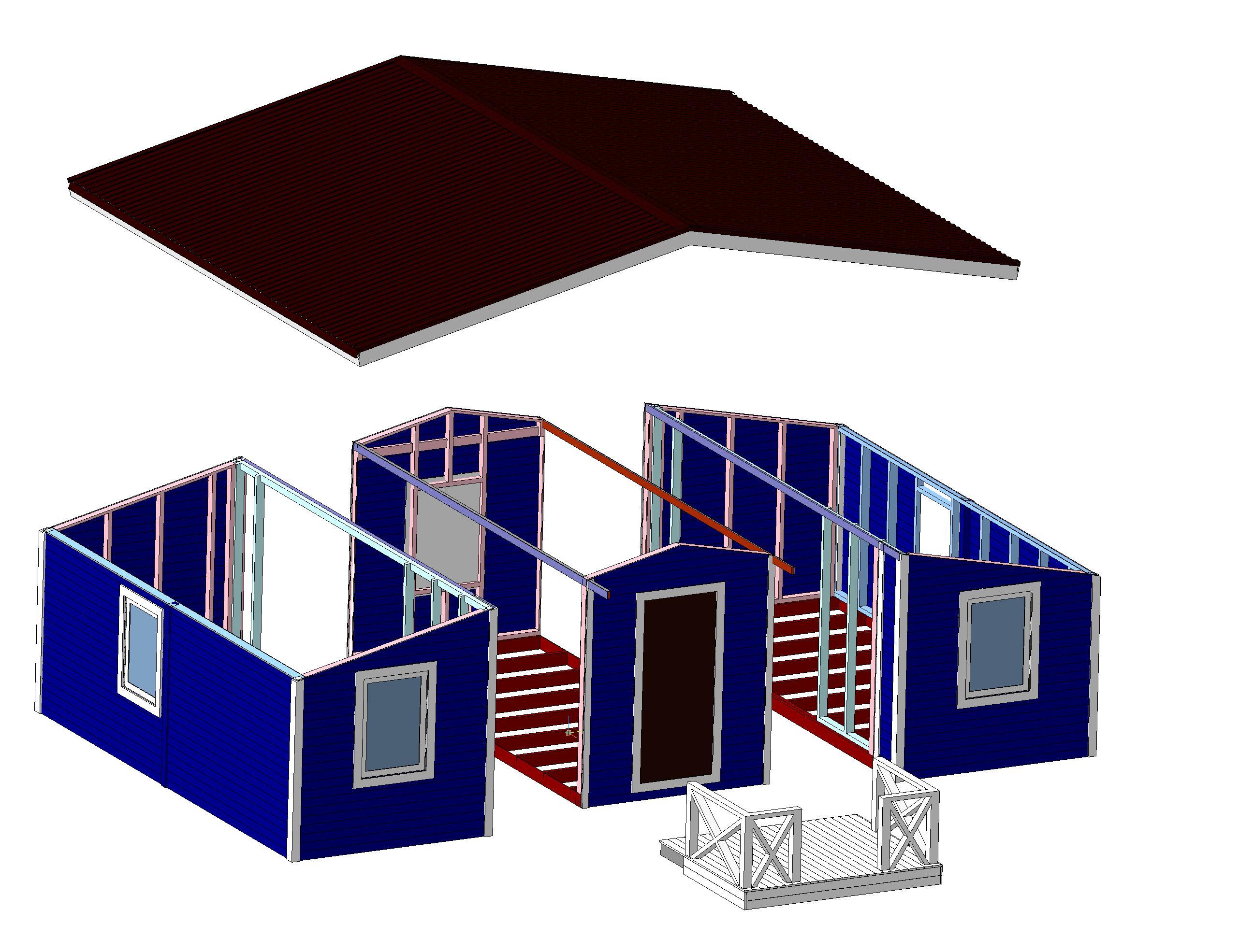 Строение модульного дома