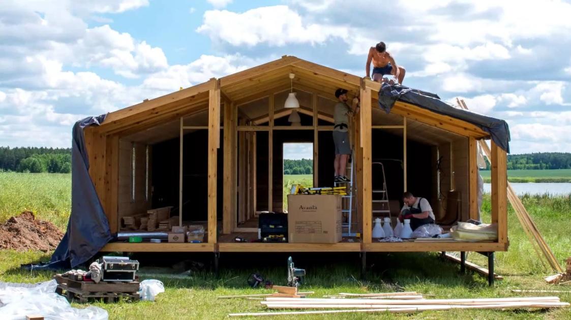 Cтроительство модульного дома своими руками