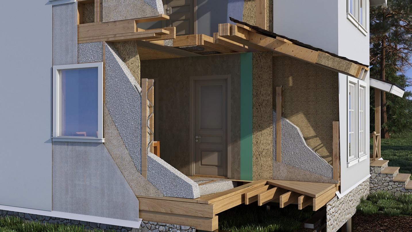 Каркасные дома в разрезе