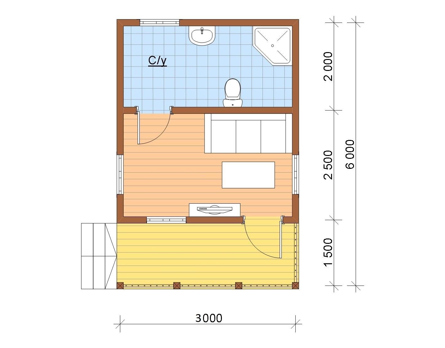 Планировка дома 6 на 3