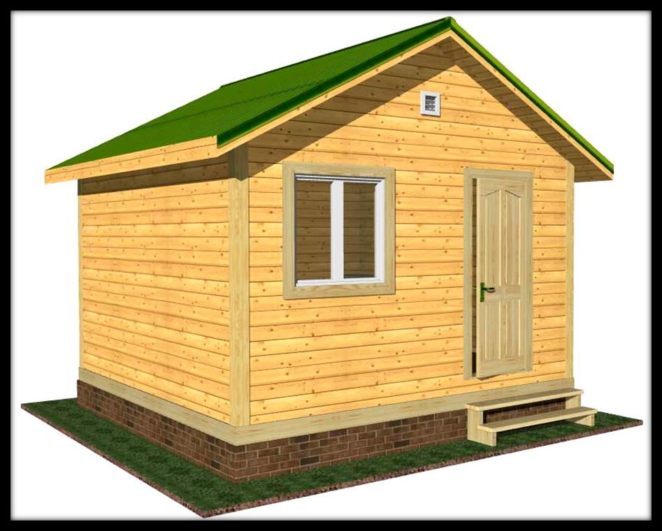 Небольшой каркасный домик